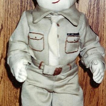 WW2 cloth Army Doll - Dolls