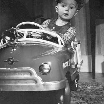 Young Boy in Pedal Car circa 1950 - Model Cars
