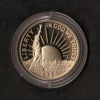 1986 - Statue of Liberty Proof Half Dollar Coin  - US Coins