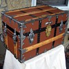 C.A. Taylor Antique Flat Top Trunk