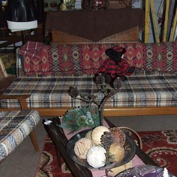 Mid century Danish modern teak sofa set, Unknown maker