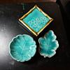 Blue Leaf Trays