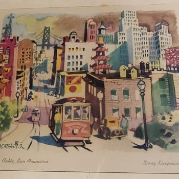 California Cable, San Francisco by Dong Kingman - Fine Art