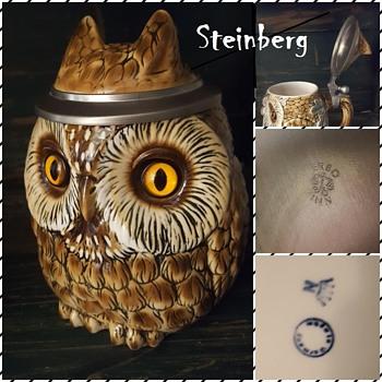 Owl Stein,  Beer Stein Stahl Bohne  - Animals