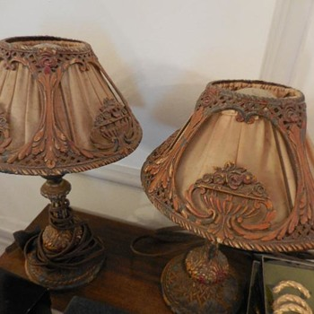 Gorgeous EARLY LAMPS WITH GREAT SHADES