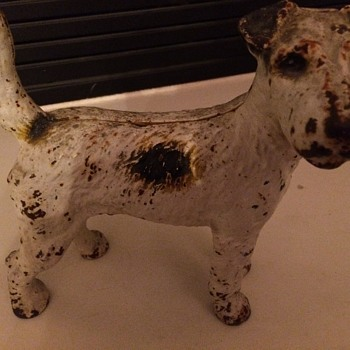 Really cute terrier statue