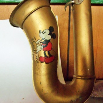 1930's Haro Mickey Mouse Blow Accordian, Made in Czechoslovkia