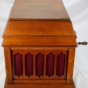 Vinatge Original Oak THOMAS EDISON AMBEROLA 50 Cylinder Phonograph  - Electronics