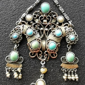 Antique Silver  Pendant - Fine Jewelry