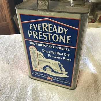Eveready Prestone antifreeze can  - Petroliana