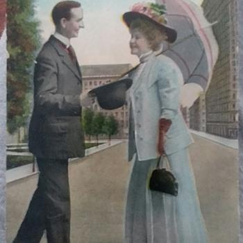 Walking along Broadway  - Postcards