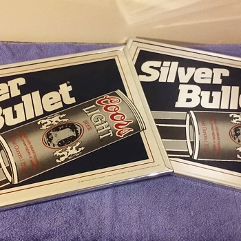 pair of COORS LIGHT SILVER BULLET mirrors - Advertising