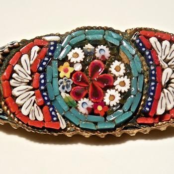 Micro Mosaic Pin - Fine Jewelry