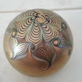 Zephyr Studios American Iridescent Paperweight - Art Glass