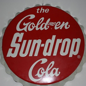 "1965 34"" Sundrop Bottle cap sign - Advertising"