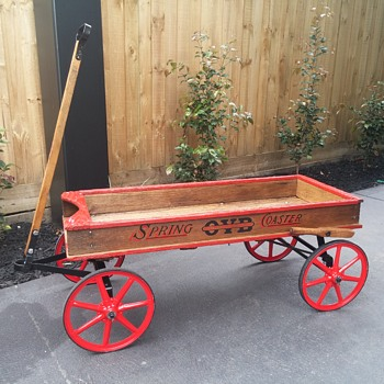 1917 OVB SPRING COASTER WAGON made by The Sherwood Brothers USA (Restored to original) - Toys