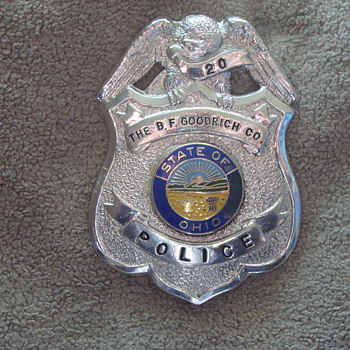 Obsolete BF Goodrich Ohio Plant Police Badge!  - Medals Pins and Badges