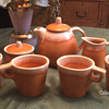 Hull Pottery (Mug) Tea Set — Tangerine