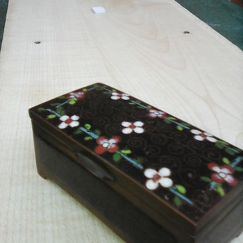 My cloisonne stamp box - Asian