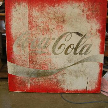 Circa 1980s Coke Sign - Coca-Cola
