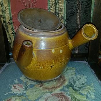 Interesting (Primitive?) Japanese Kyusu Teapot - Pottery