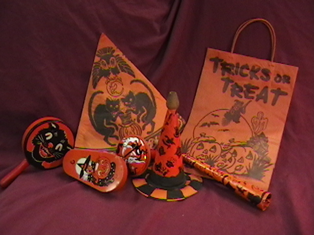 vintage halloween noisemakers party hat and bag collectors weekly