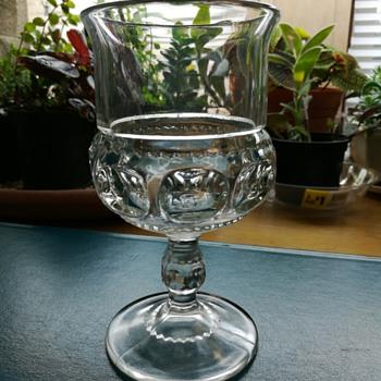 Indiana Glass Kings Crown Thumbprint glass