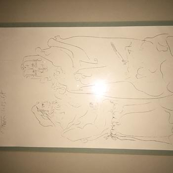 Signed Harold Town Sketch (Print?)