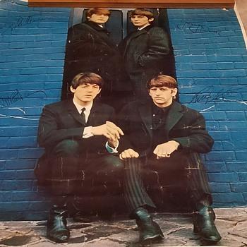 1963 The Beatles Mistake Poster  - Music Memorabilia