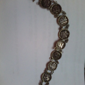 antique silver charm bracelet from my granma . - Fine Jewelry