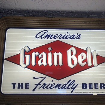 America's grain belt the friendly beer lighted sign Minneapolis brewing company - Breweriana