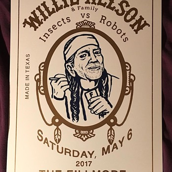 Willie Nelson poster, Fillmore, 5/6/17