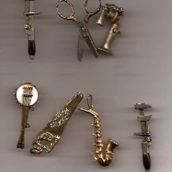 Early 20th century base metal charms/fobs - Costume Jewelry
