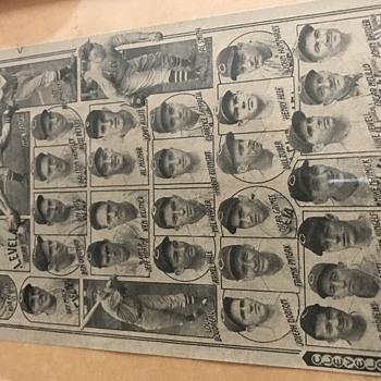 1940 baseball printout - Baseball