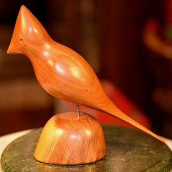 G. E. Redfield Carved Wood Cardinal - Animals
