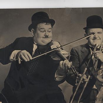 Laurel & Hardy, Charlie Chaplin - Photographs