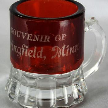 Ruby Flash Glass Souvenir Mug