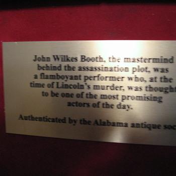 john wilkes booth lincolns asassin  - Photographs