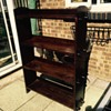 Arts & Crafts Open Peg Sided Bookcase Shelves with RD NO 412172
