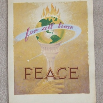 "End of WW2 ""Peace"" painting - Military and Wartime"