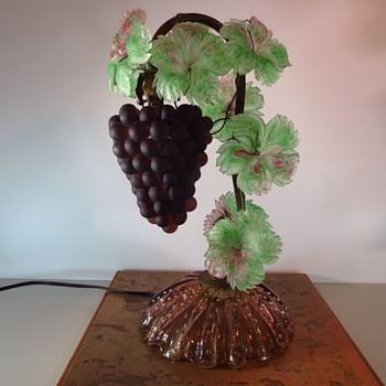 Murano Grape Vine Lamp - Art Glass