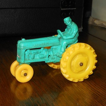 Auburn Rubber Torquoise Tractor 1950s