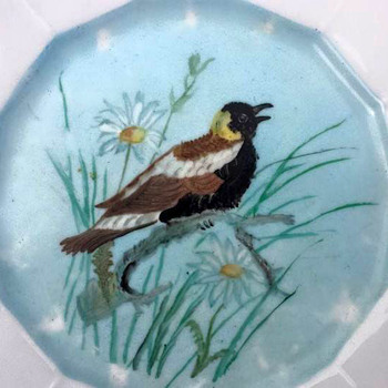 Hand Painted Folk Art Plates - Folk Art