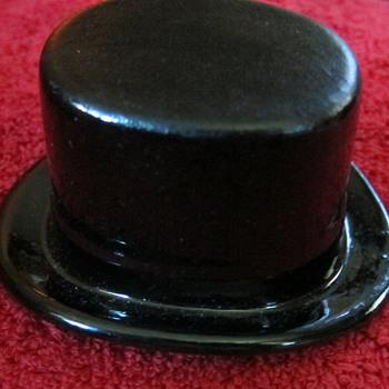 Vintage Ceramic Salesman Sample Black Top Hat - Cavanagh
