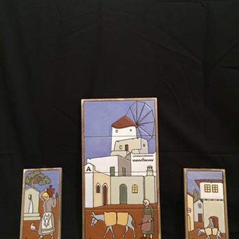 Vintage Middle Eastern Tile Art - Pottery