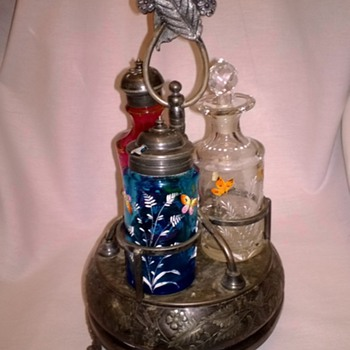 Decorated Castor Set - Art Glass