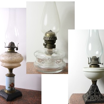 A series of oil lamps in my collection.