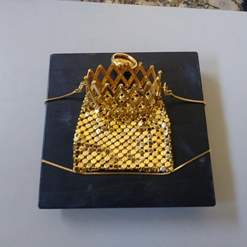 Whiting & Davis Gold Mesh Evening Bag - Bags