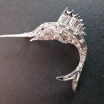 Pell swordfish brooch  - Animals