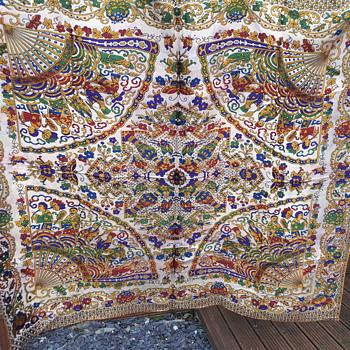 Asian textile / tablecloth - Asian